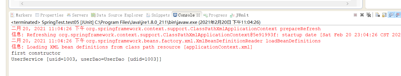 The attribute assignment is divided according to the injection mode. When the constructor assigns multiple constructors, it prints the situation after adding the index parameter